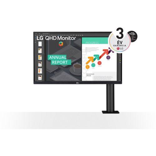 """LG 27"""" 27QN880-B 27'' QHD IPS HDR10-zel és AMD FreeSync™ technológiával"""