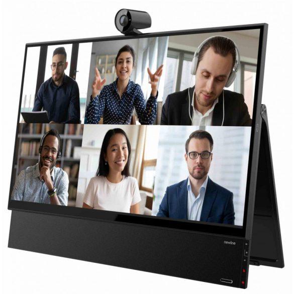 "newline FLEX 27""Desktop touch panel 1x camera, 8x microphones, 4K, Optioanl OPS,"