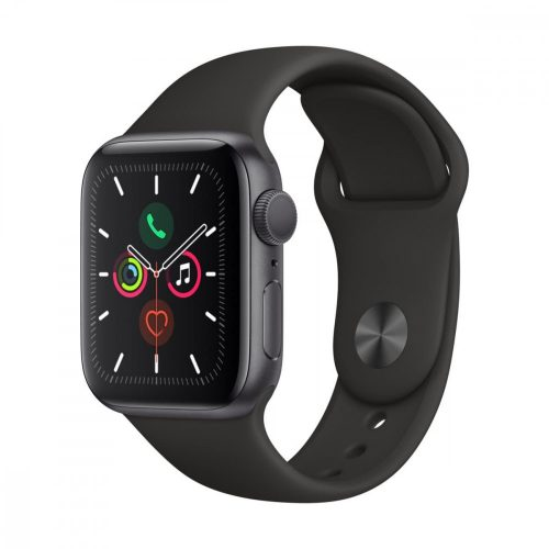 Apple Watch SE GPS 40mm Asztroszürke alumíniumtok Fekete sportoszíj