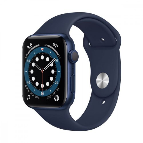 Apple Watch Series 6 GPS 44mm Kék alumíniumtok Sötétkék (Deep Navy) sportszíj
