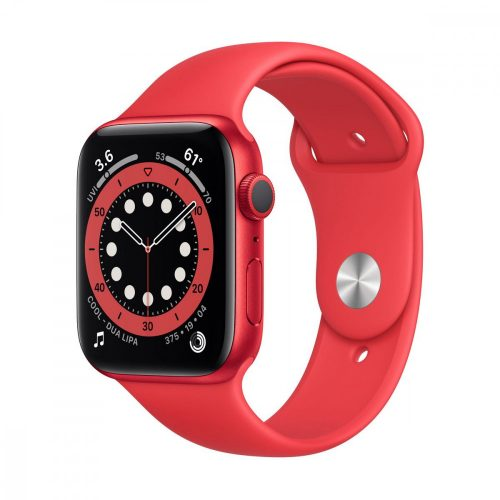 Apple Watch Series 6 GPS 44mm Piros alumíniumtok Piros sportszíj