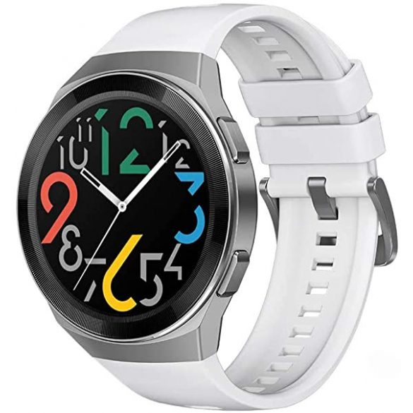 Huawei Watch GT 2e 46mm Ezüst tok - Fehér szilikonszíj