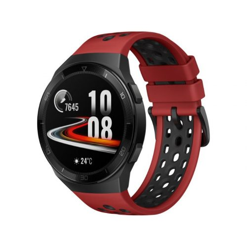 Huawei Watch GT 2e 46mm Fekete tok - Piros szilikonszíj