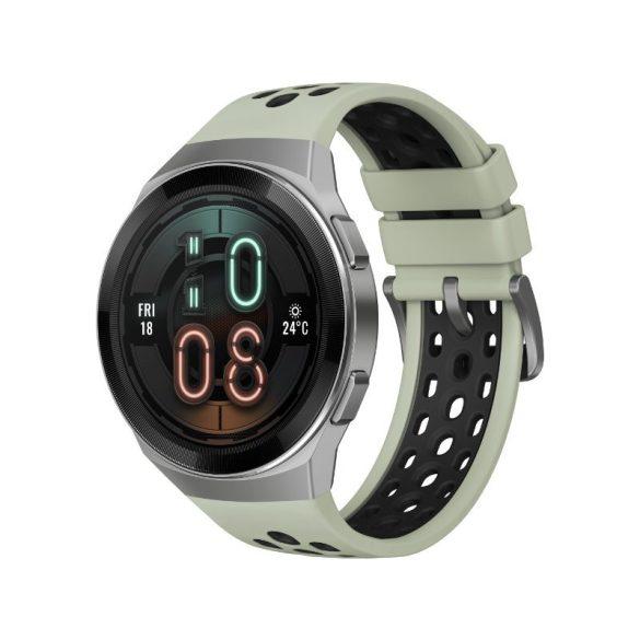 Huawei Watch GT 2e 46mm Ezüst tok - Mentazöld szilikonszíj